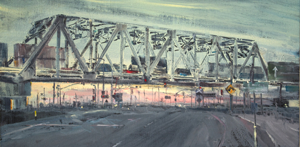 L.A. Viewpoint - Urban oil painting by artist April Raber