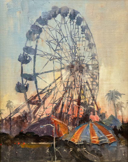 A hot Summer afternoon day at the L.A. County Fair.&ensp;<br><br><br><em>Fair Weather</em> was painted on-site at the L