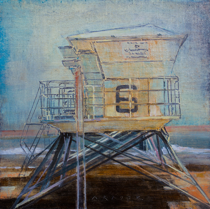 Hotwheels II - FOA, wet,Urban oil painting by artist April Raber
