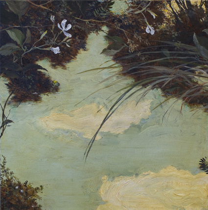One of a series of shallow pool paintings done in the Sierra mountains