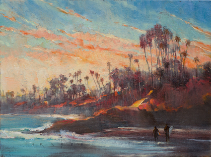 Beach Breeze - Laguna,wet oil painting by artist April Raber