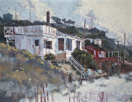 Hotel Laguna - Laguna oil painting by artist April Raber