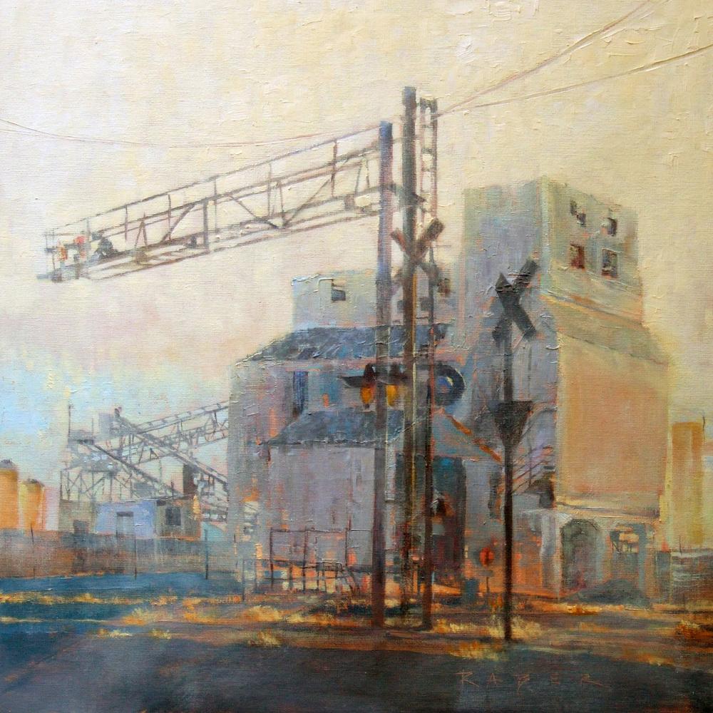 Monolith April Raber Industrial paintings, Railroad